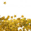 Foto Stock: Celebration stars on white background