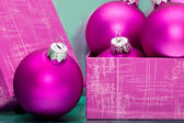 Beautiful pink Christmas balls — Stock Photo