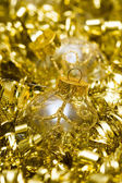 Golden Christmas decoration ball — Stock Photo