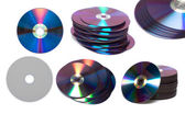 Stack of Cd or DVD roms isolated — Stock Photo