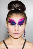 Beautiful fashionable woman — Stok fotoğraf