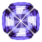 Beautiful diamond crystal isolated on white back — Stock Photo