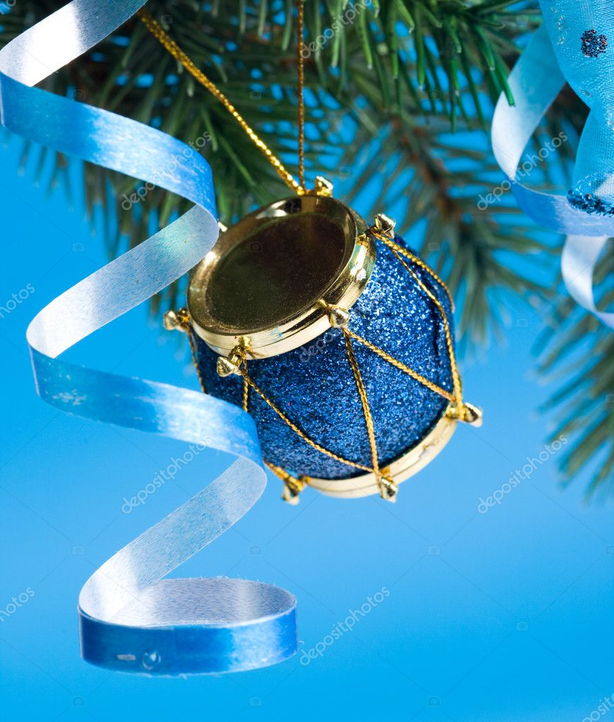 Christmas decoration on a fir-tree — Stock Photo #1403580