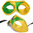Masquerade mask isolated - Stock Photo