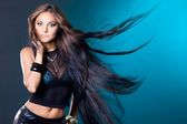 Woman with long hair — Fotografia Stock