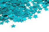 Firandet stjärnor på vit bakgrund — Stockfoto