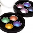 Varicoloured make-up eye-shadows - Stockfoto