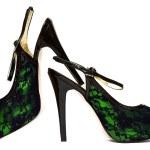 Womanish shoes isolated — Stock Photo