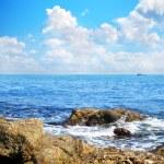 Rocks on a beach of sea — Stock Photo