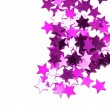 Celebration stars on white background — Foto Stock
