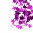 Celebration stars on white background — Stock Photo