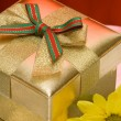 Royalty-Free Stock Photo: Gift box with yellow flower