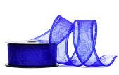 Blue ribbon on spool — Stock Photo
