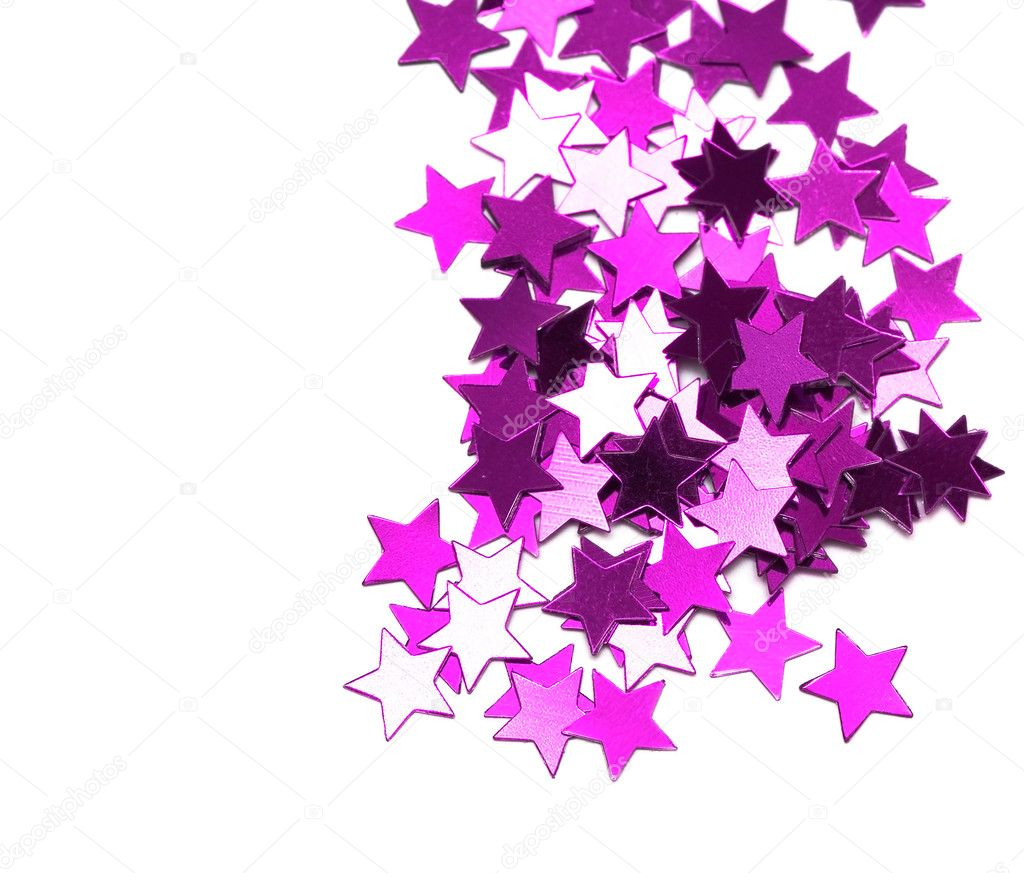Celebration stars on white background — Stock Photo #1424204