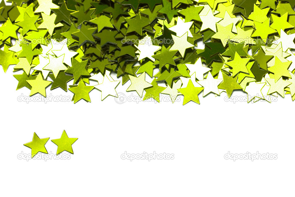 Celebration stars on white background — Stock Photo #1424214