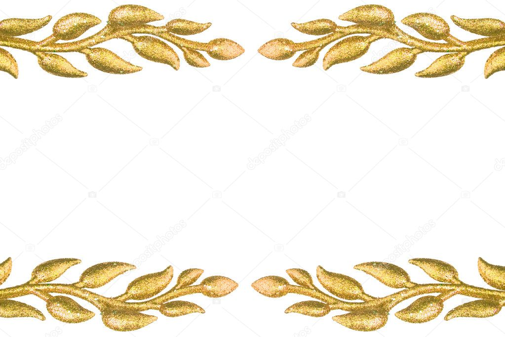 Border of festive decoration leaves  — Stock Photo #1424244