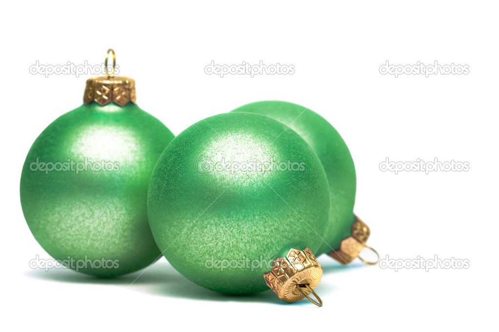 Christmas decoration balls isolated on white  — Stock Photo #1424666