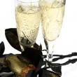Glass with champagne — Stock Photo