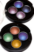 Varicoloured make-up eye-shadows — Stock Photo