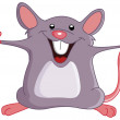 Happy mouse — Stock Vector