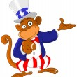 Pointing monkey — Stock Vector