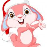 Christmas cute bunny — Stock Vector