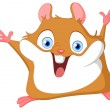 Cute hamster - Stock Vector