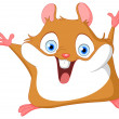 Stock Vector: Cute hamster