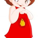 Cute little girl — Stock Vector