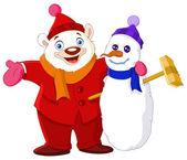 Winter buddies — Stock Vector