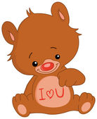 I love U bear — Stock Vector