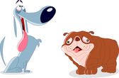 Silly dogs — Stock Vector