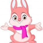 Winter bunny — Stock Vector