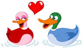 In love ducks — Stock Vector