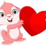 Cute bunny valentine — Stock Vector