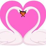 Swans valentine — Stock Vector #1657264