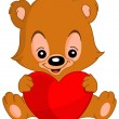Valentine teddy bear — Stock Vector