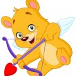 Cupid teddy bear - Stock Vector