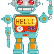 Stock Vector: Hello robot