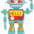 Hello robot - Stock Vector