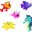 Sea creatures - Stock Vector
