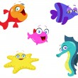 Royalty-Free Stock Векторное изображение: Sea creatures