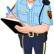 Stock Vector: Policeman