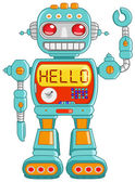 Hello robot — Vector de stock