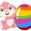Cute bunny Easter — Image vectorielle