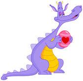 In love dragon Easter — Stock Vector