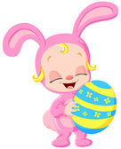 Easter baby — Stock Vector