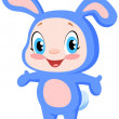 Stock Vector: Baby bunny