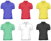 Polo shirts — Stockvektor