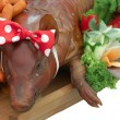 Stock Photo: Roasted pig